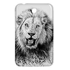Lion Wildlife Art And Illustration Pencil Samsung Galaxy Tab 3 (7 ) P3200 Hardshell Case