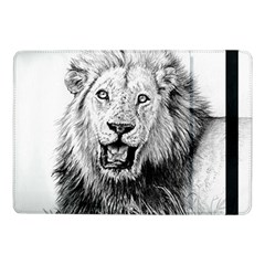 Lion Wildlife Art And Illustration Pencil Samsung Galaxy Tab Pro 10 1  Flip Case