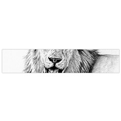Lion Wildlife Art And Illustration Pencil Small Flano Scarf