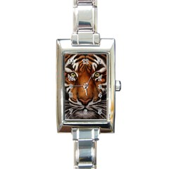 The Tiger Face Rectangle Italian Charm Watch