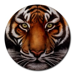 The Tiger Face Round Mousepads