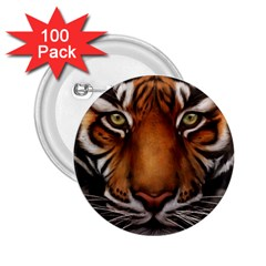 The Tiger Face 2 25  Buttons (100 Pack)