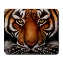 The Tiger Face Large Mousepads