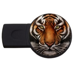 The Tiger Face Usb Flash Drive Round (2 Gb)