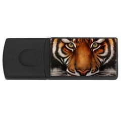 The Tiger Face Rectangular Usb Flash Drive