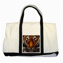 The Tiger Face Two Tone Tote Bag