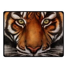 The Tiger Face Fleece Blanket (small)