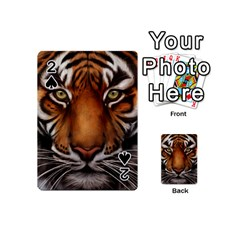 The Tiger Face Playing Cards 54 (mini)  by Nexatart
