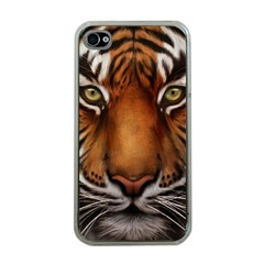 The Tiger Face Apple Iphone 4 Case (clear)