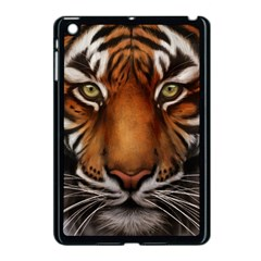 The Tiger Face Apple Ipad Mini Case (black) by Nexatart