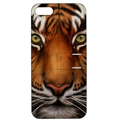 The Tiger Face Apple Iphone 5 Hardshell Case With Stand