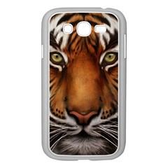 The Tiger Face Samsung Galaxy Grand Duos I9082 Case (white) by Nexatart