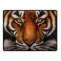 The Tiger Face Double Sided Fleece Blanket (small)