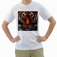 The Tiger Face Men s T Shirt (white)