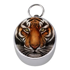 The Tiger Face Mini Silver Compasses