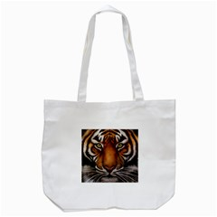 The Tiger Face Tote Bag (white)