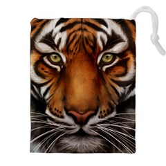 The Tiger Face Drawstring Pouches (xxl)