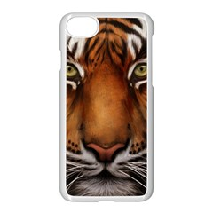 The Tiger Face Apple Iphone 7 Seamless Case (white)