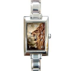 Roaring Lion Rectangle Italian Charm Watch