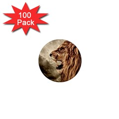 Roaring Lion 1  Mini Magnets (100 Pack)