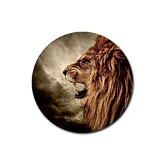 Roaring Lion Rubber Round Coaster (4 Pack)