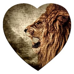 Roaring Lion Jigsaw Puzzle (heart)