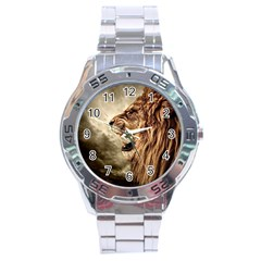 Roaring Lion Stainless Steel Analogue Watch