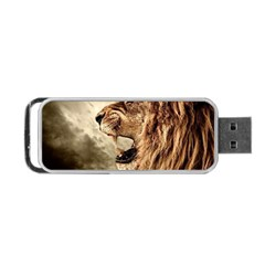Roaring Lion Portable Usb Flash (one Side)