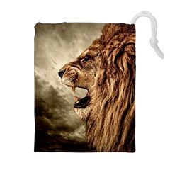 Roaring Lion Drawstring Pouches (extra Large)