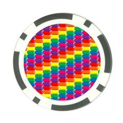 Rainbow 3d Cubes Red Orange Poker Chip Card Guard
