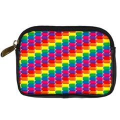 Rainbow 3d Cubes Red Orange Digital Camera Cases