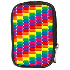Rainbow 3d Cubes Red Orange Compact Camera Cases by Nexatart