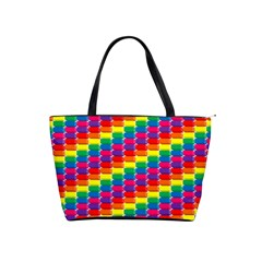 Rainbow 3d Cubes Red Orange Shoulder Handbags