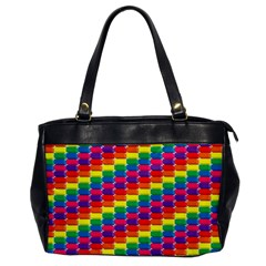 Rainbow 3d Cubes Red Orange Office Handbags