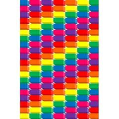 Rainbow 3d Cubes Red Orange 5 5  X 8 5  Notebooks