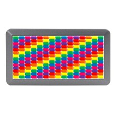 Rainbow 3d Cubes Red Orange Memory Card Reader (mini)