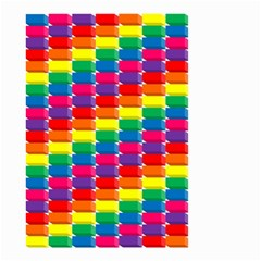 Rainbow 3d Cubes Red Orange Small Garden Flag (two Sides)