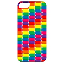 Rainbow 3d Cubes Red Orange Apple Iphone 5 Classic Hardshell Case