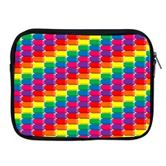 Rainbow 3d Cubes Red Orange Apple Ipad 2/3/4 Zipper Cases