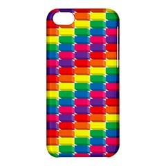 Rainbow 3d Cubes Red Orange Apple Iphone 5c Hardshell Case