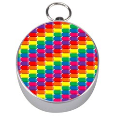 Rainbow 3d Cubes Red Orange Silver Compasses