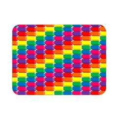 Rainbow 3d Cubes Red Orange Double Sided Flano Blanket (mini)