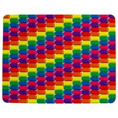 Rainbow 3d Cubes Red Orange Jigsaw Puzzle Photo Stand (rectangular)