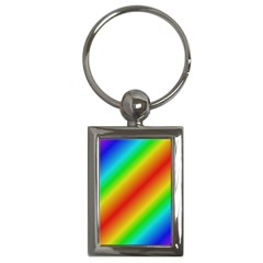 Background Diagonal Refraction Key Chains (rectangle)