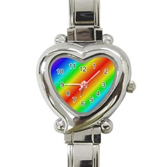 Background Diagonal Refraction Heart Italian Charm Watch