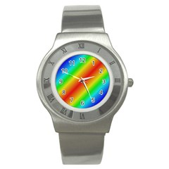 Background Diagonal Refraction Stainless Steel Watch