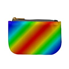 Background Diagonal Refraction Mini Coin Purses