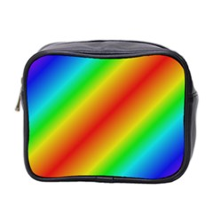 Background Diagonal Refraction Mini Toiletries Bag 2 Side
