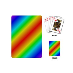 Background Diagonal Refraction Playing Cards (mini)