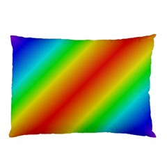 Background Diagonal Refraction Pillow Case (two Sides)
